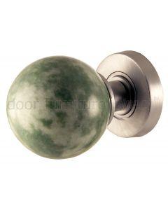 Jade Green Marble Mortice Door Knobs 60mm