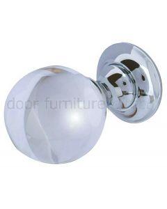 Plain Glass Ball Mortice Door Knobs 60mm