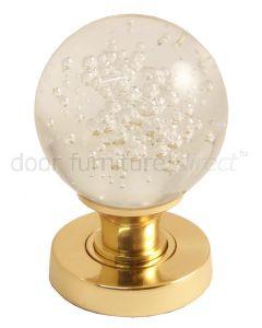 Glass Bubble Mortice Door Knobs 60mm