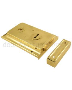 Brass Rimlock 6in x 4in