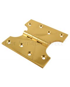 Brass Polished Parliament Hinges 102x51x102x4mm in Pairs
