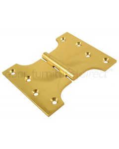 Brass Polished Parliament Hinges 102x76x127x4mm in Pairs