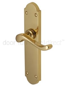 Savoy Long Scroll Lever Polished Brass Latch Door Handles