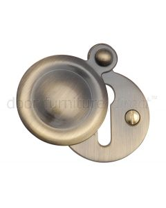 Antique Brass Plain Door Key Hole Escutcheon 33mm