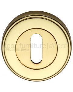 Polished Brass Key Escutcheon 53mm