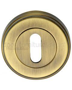 Antique Brass Key Escutcheon 53mm