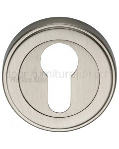 Satin Nickel EURO Cylinder Escutcheon 53mm