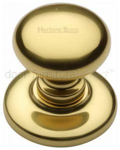 Polished Brass Round Centre Door Knob 78mm (3in)