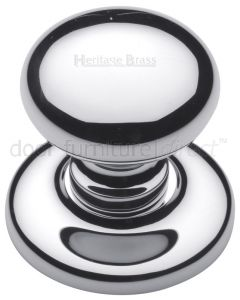 Polished Chrome Round Centre Door Knob 78mm (3in)
