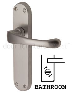 Gloucester Shaped Lever Satin Nickel Bathroom Door Handles