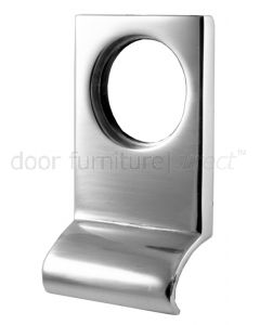 Polished Chrome Square Edge Cylinder Door Pull