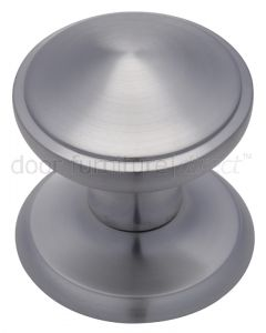 Satin Chrome Stepped Edge Front Door Knob 3.5in (82mm)
