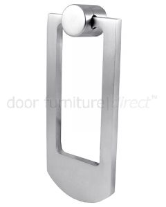 Satin Chrome Contemporary Door Knocker 68x159mm