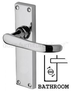 Avon Straight Lever Polished Chrome Bathroom Door Handle Set