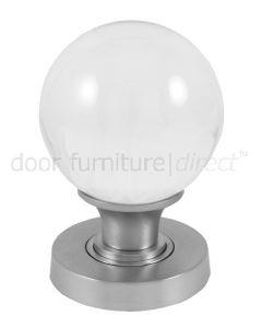 Clear Glass Ball Mortice Door Knobs