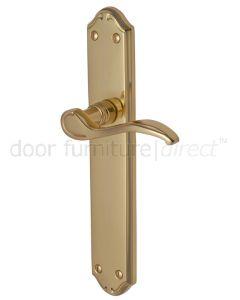 Verona Scroll Lever Polished Brass Latch Door Handles