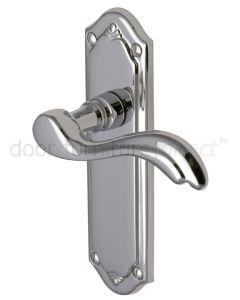 Lisboa Scroll Lever Polished Chrome Latch Door Handles