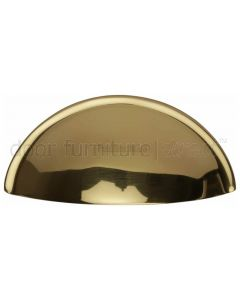 Polished Brass Concealed Fix Drawer Pull Handle 85mm