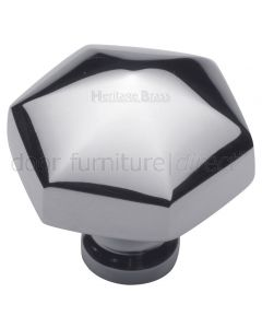 Polished Chrome Hexagon Cabinet Knob 32mm