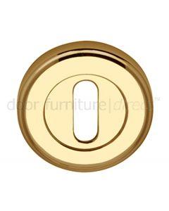 Polished Brass Round Key Hole Escutcheon 50mm