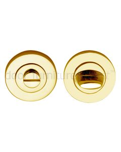 Polished Brass Contemporary Thumb Turn and Emergency Release 53mm
