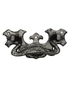 Black Antique Iron Ornate Cabinet Handle 127mm 834