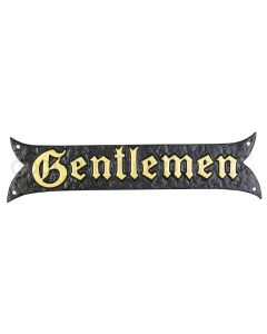 Black Antique Nameplate with Gold Lettering 1855