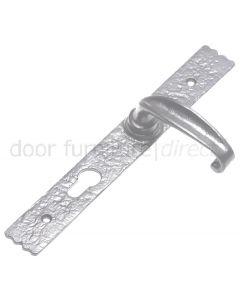 Pewter Finish Euro Lock Plate 3 Way Locking 2461 Door Handles