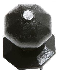 Black Iron Centre Door Knob 3372