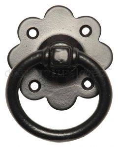 Black Iron Gate Handle 3431