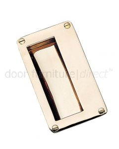 Real Bronze Flush Pull 114x64mm