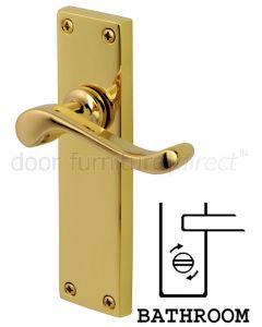 PVD None Tarnish Brass Bedford Bathroom Lock Door Handles