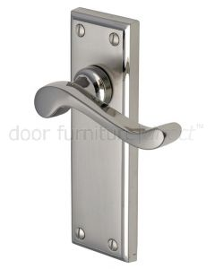 Edwardian Scroll Lever Dual Finish Nickel Latch Door Handles