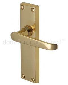 Victoria Straight Lever Polished Brass Latch Door Handles
