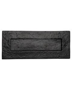 Black Antique Iron Tudor Letter Box 254x80mm