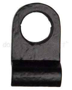 Black Antique Iron Tudor Radiused Cylinder Door Pull