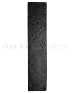 Black Antique Iron Tudor Square Edge Finger Push Plate 301x65mm