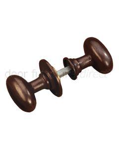 Rustic Bronze Oval Rim Door Knobs