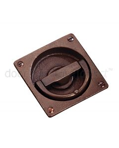 Rustic Bronze Flush Ring Handle 90x90mm