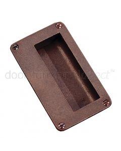 Rustic Bronze Flush Pull 114x64mm