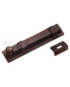 Rustic Bronze Door Bolt with Angle Plate