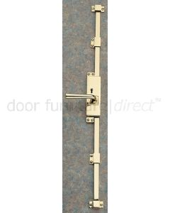 Lever Operated Brass 5 Lever Key Locking Espagnolette Bolt