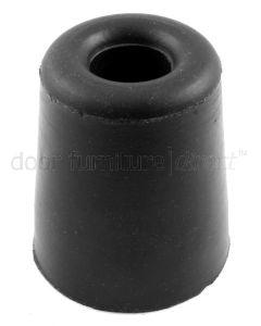 Black Rubber Conical Door Stop or Buffer