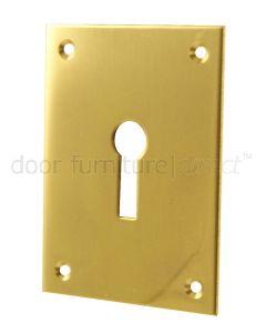Door Escutcheon Polished Brass 65.5x47.6mm
