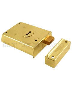 Electro Brassed Rim Dead Lock 100x75mm