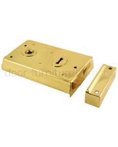 Electro Brassed Rim Lock 138x75mm