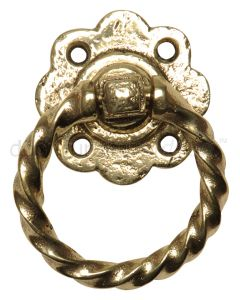 Antique Style Brass Ring Gate Handle 679
