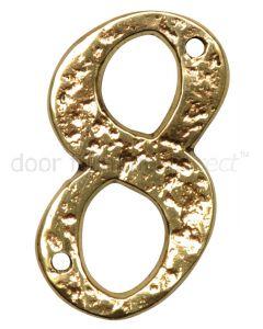 Antique Style Brass Numerals 0-9 76mm 1979