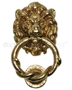 Antique Style Brass Lion Door Knocker 100mm 4896