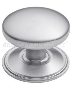 Satin Chrome Dome Centre Door Knob 82mm